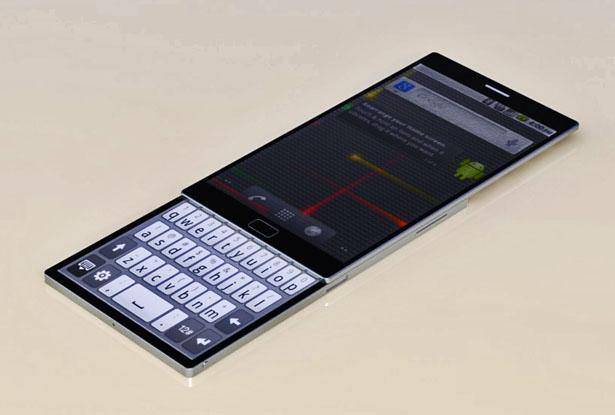 Верхний экран можно сдвигать вверх