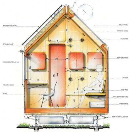 схема микро-дома