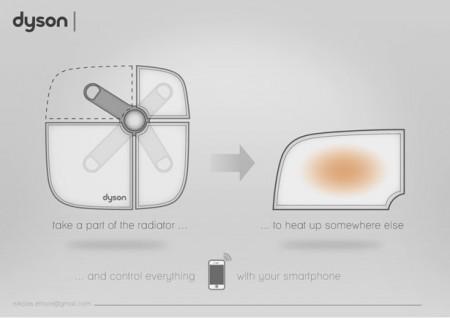 Концепция Dyson радиатора