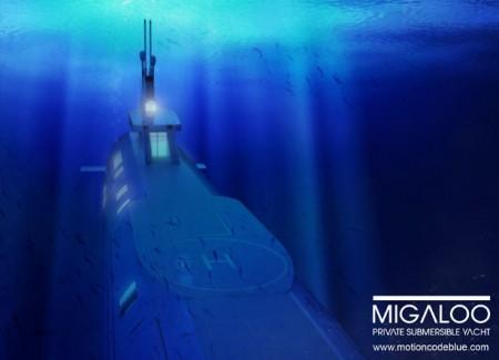 подводная яхта от Motion Code: Blue