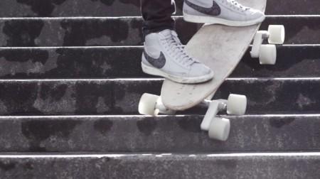 поворачивающиеся колеса скейта