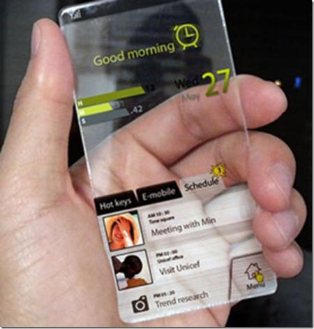 стеклянный мобильник