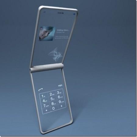 стеклянный мобильный телефон