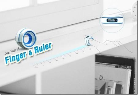 finger and ruler
