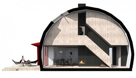 эко-дом в разрезе