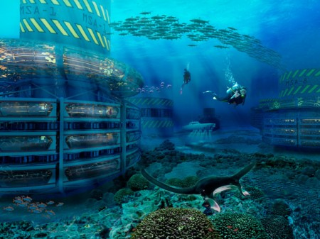 grand-cancun под водой