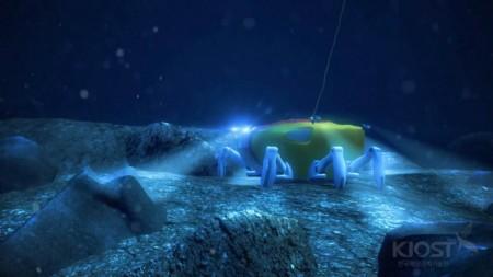 робот на дне моря