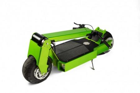 скутер в сложенном состоянии