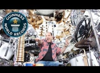 Крупнейший в мире набор барабанов