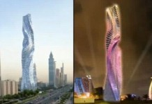 вращающийся небоскреб