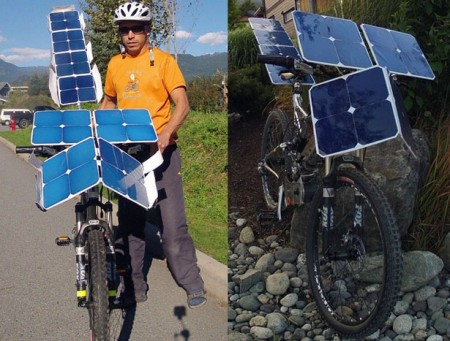 Велосипед на солнечных батареях