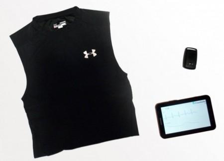 Спортивная футболка с электродами