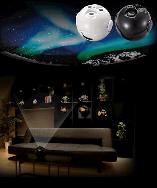 """Домашний планетарий Homestar """"AURORA"""" может работать повсюду, где имеется горизонтальная поверхность для установки и  """"экран"""" соответствующих размеров, например, потолок"""