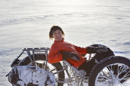 велосипед по снегу