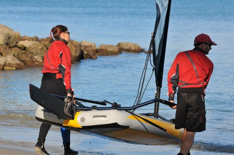 надувных лодок парус