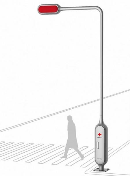 светофорный столб
