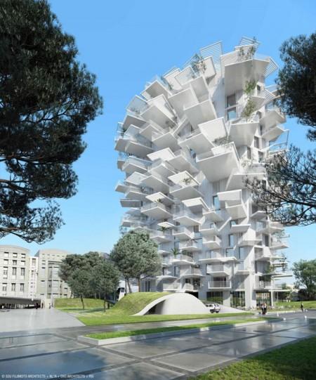 Arbre Blanc - башня «Белое дерево»