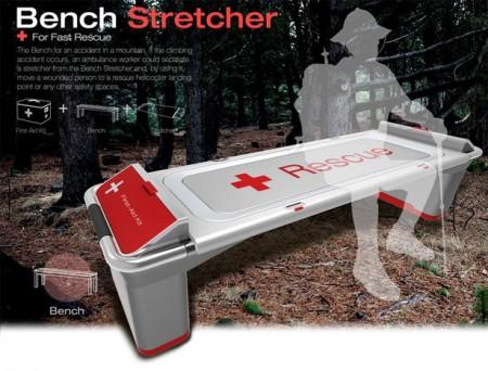 Скамья - носилки для быстрой помощи в горной местности