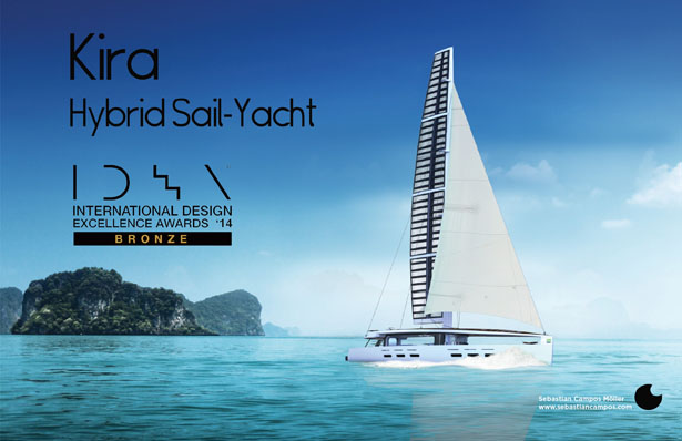 kira hybrid sail yacht