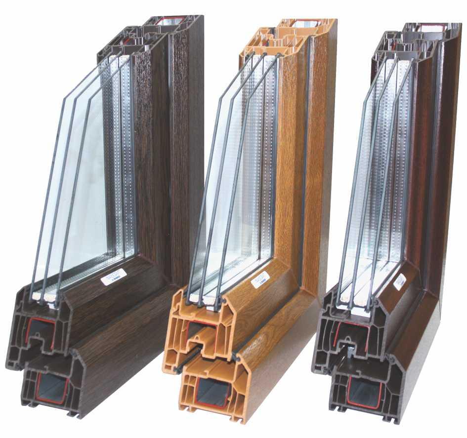 Ламинированные окна ПВХ в массе АлюмГласс