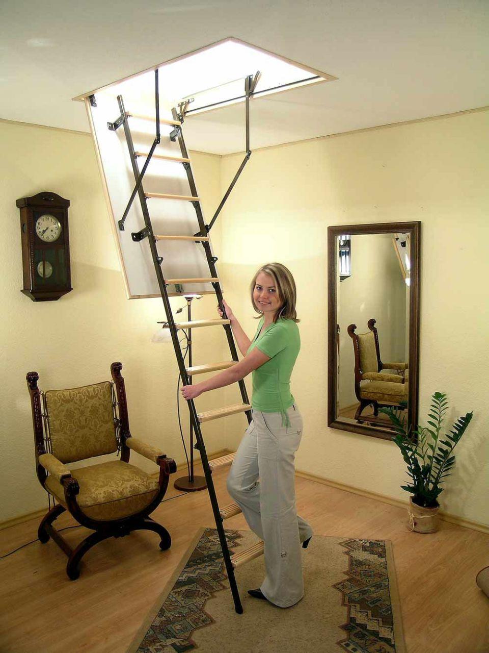 Лестница раскладная на чердак своими руками - делаем пошагово 45