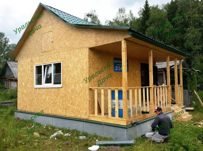 Дачный каркасный дом фото