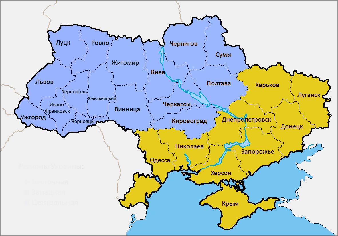 Карта Украины путешественникам в помощь!