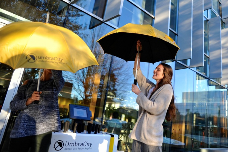Идея для дождливого дня: автоматические киоски для выдачи зонтиков на прокат