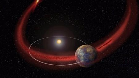 Пылевые частицы комет способны изменять состав атмосферы планет