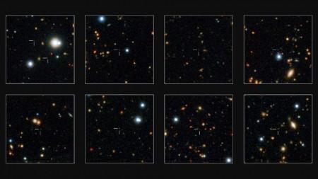 574 древнейших массивных галактик обнаружили астрономы