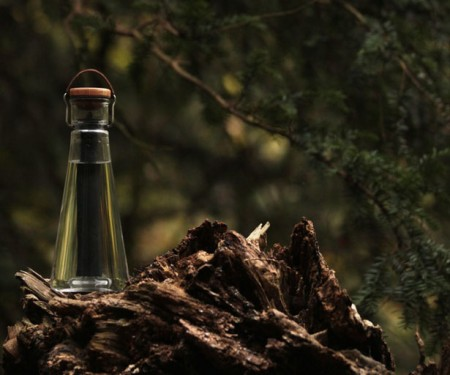 Маленькое очистное сооружение внутри бутылки