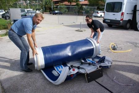 Создано первое судно влезающее в чемодан