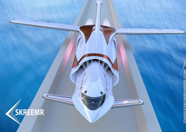 Сверхзвуковой самолет, летающий на скорости, превышающей скорость звука в 10 раз
