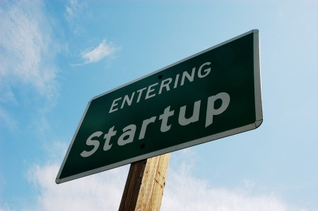 Sign at the entrance of Startup city, Washington