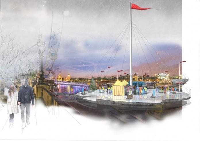 NBBJ подготовили праздничную концепцию для реки Темзы