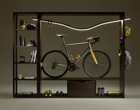 Обнародована интересная концепция: шкаф под велосипед