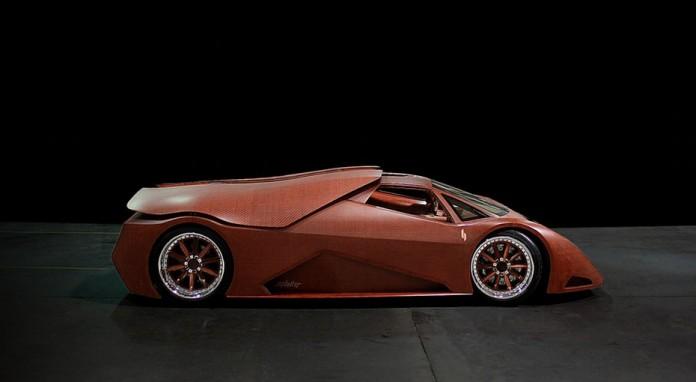 Джо Харман спроектировал и построил деревянный автомобиль