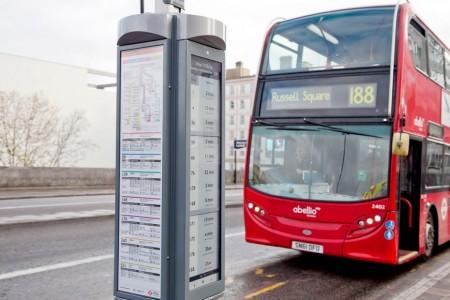 В Лондоне появились первые табло с электронными чернилами