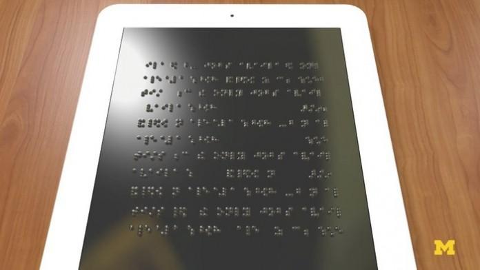 Появился планшет для людей с серьезными нарушениями зрения