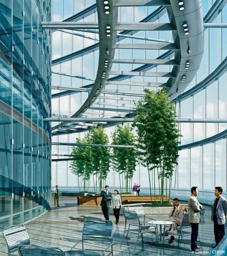 """В Шанхае построена огромная """"зеленая"""" башня"""