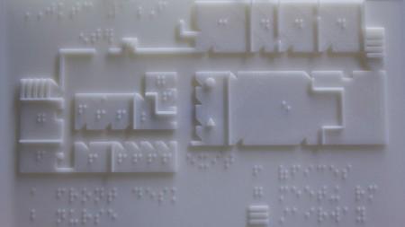 На 3-D принтере распечатали карту для слепых