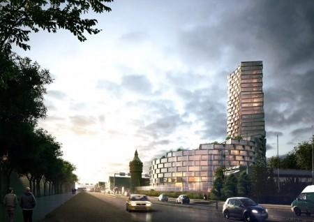 Датские архитекторы удачно совместили историческую постройку и высотку