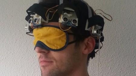 Создан шлем позволяющий слепым видеть препятствия