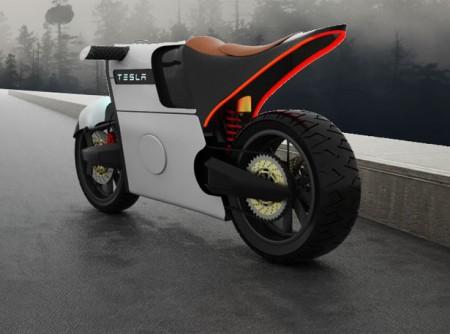 Дизайнер представил мотоцикл вдохновленный Tesla Motors
