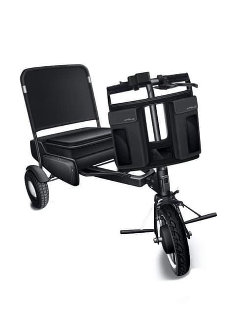 Сконструирован скутер трансформирующийся в три разных предмета