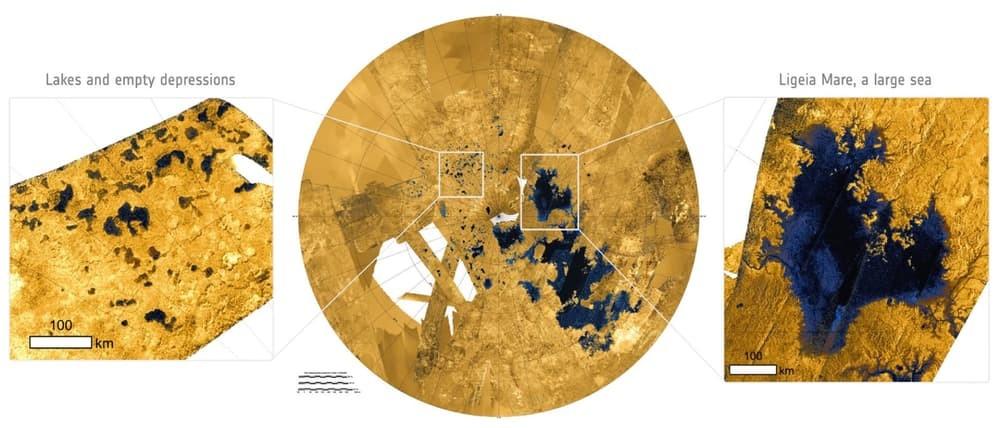 Астрономы узнали из чего состоит одно из морей Титана