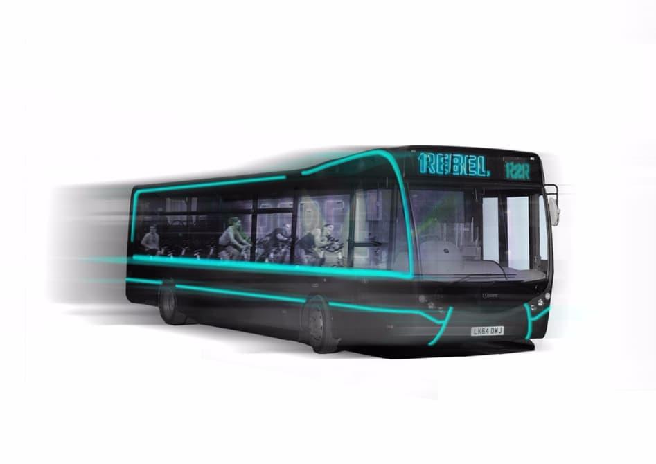 Лондонских рабочих будут перевозить автобусы-тренажерки