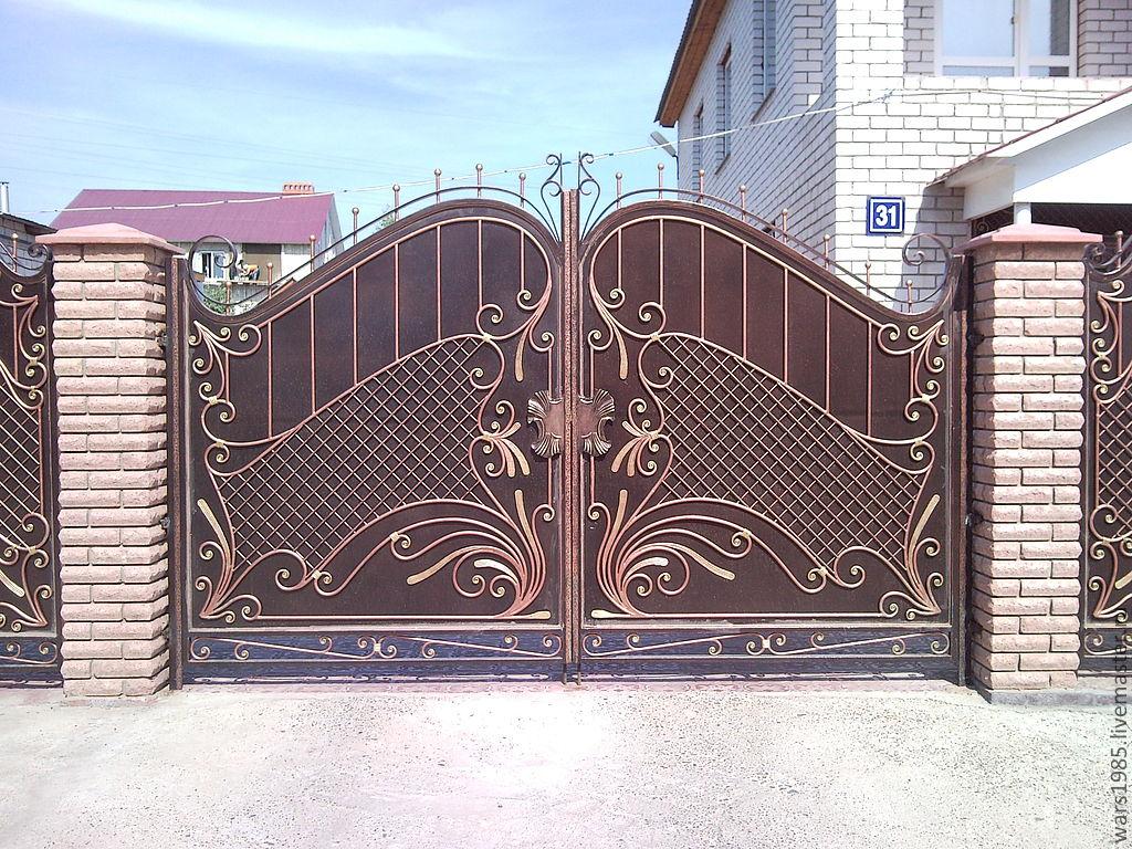 фото ворота кованые