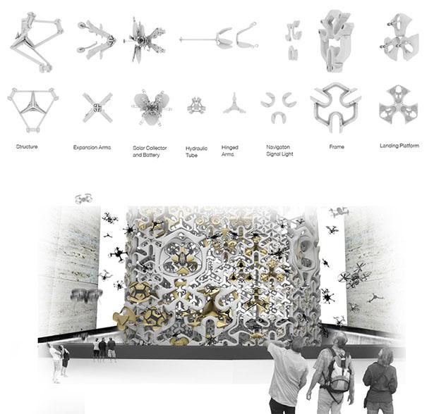 Разработан концепт башни для беспилотников
