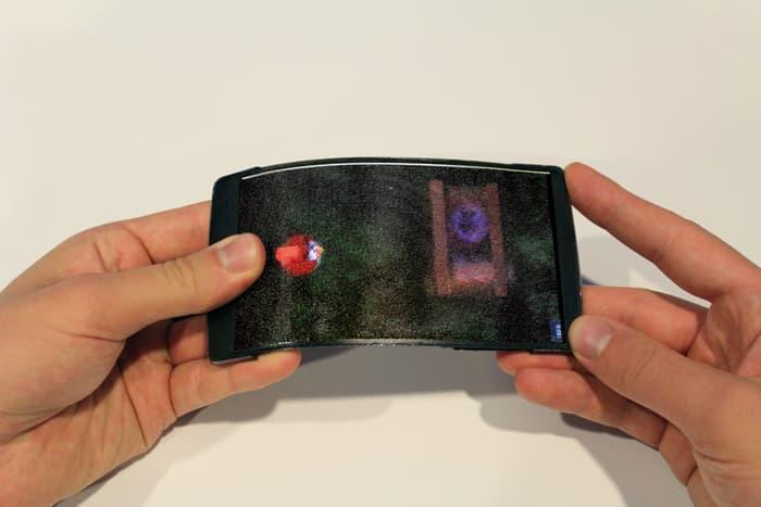 Изобретения смартфон с гибким 3D-дисплеем